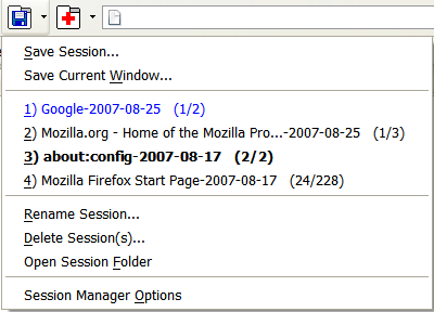 Session Manager Screen